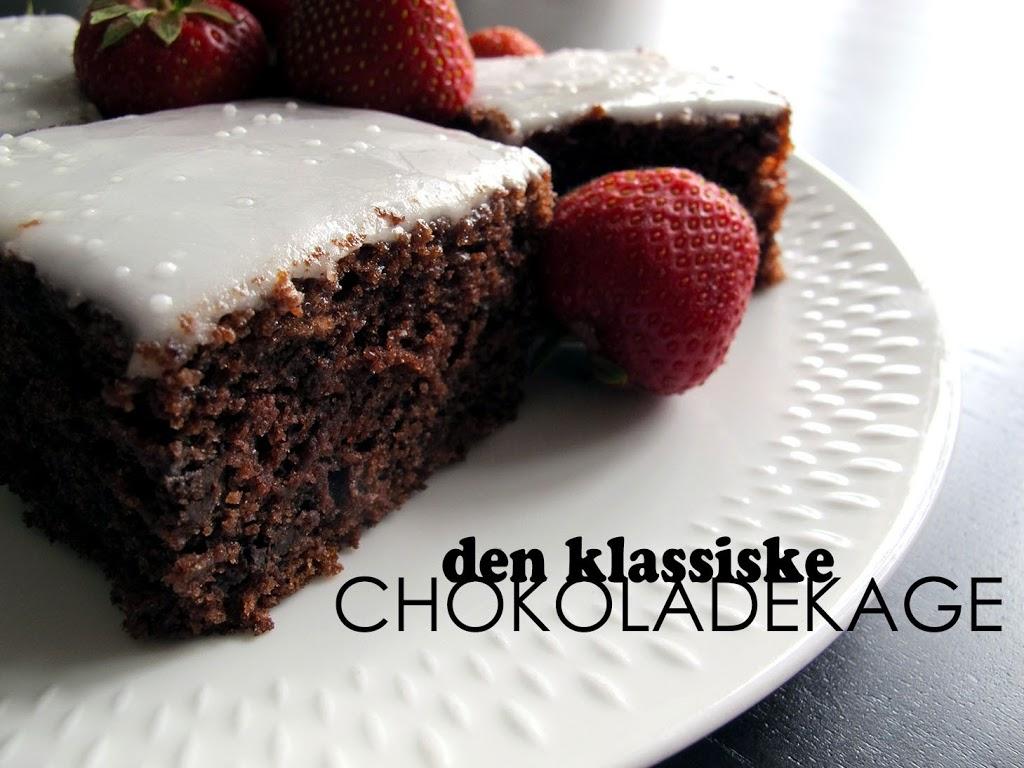chokoladekage bradepande svampet