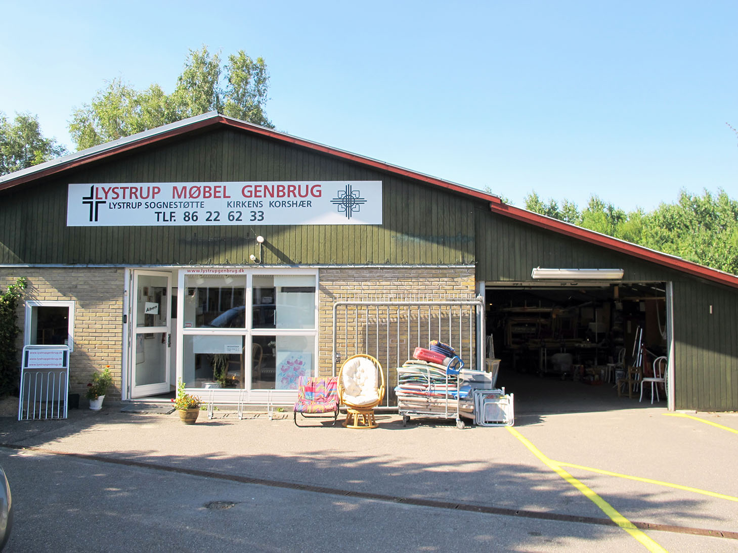 genbrugsbutikkens facade