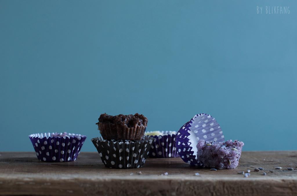 hjemmelavet scrub i cupcake forme