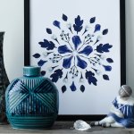 Blue floral art / Printable DIY