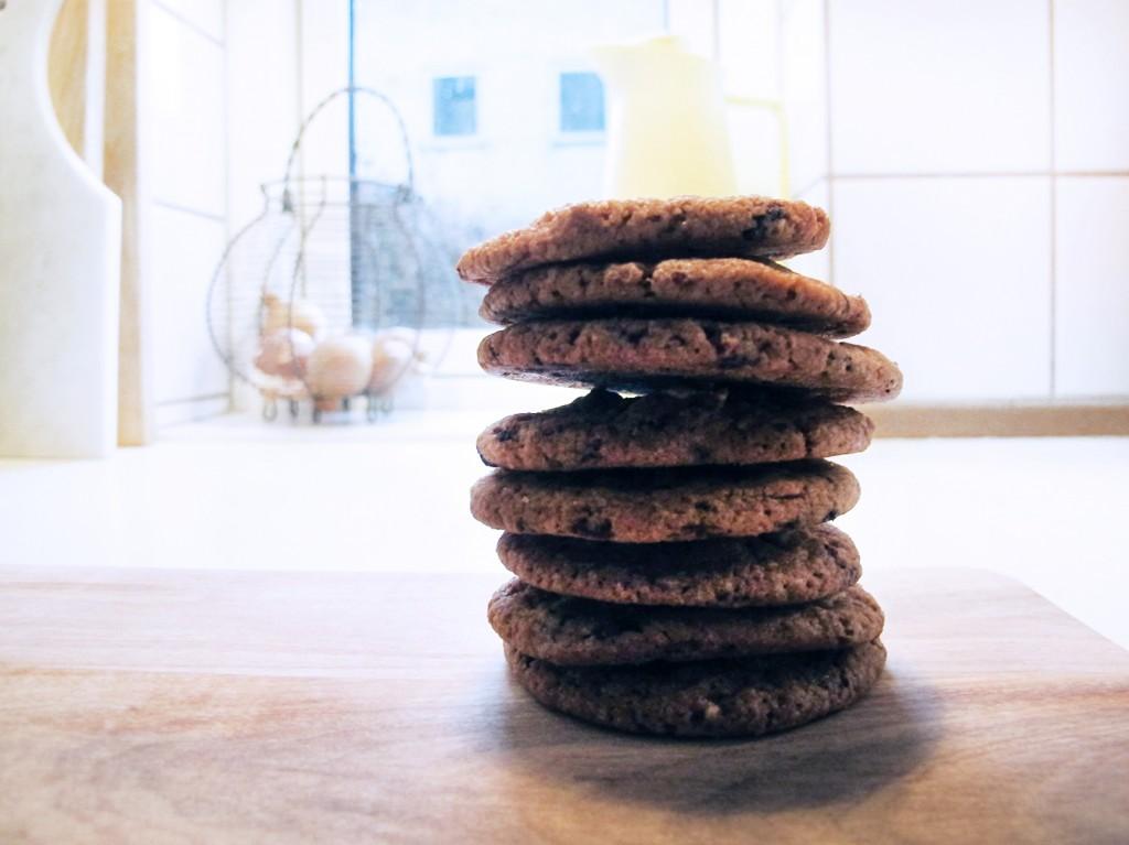 de færdige cookies