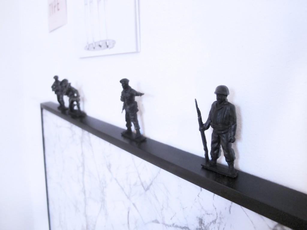 soldater på billederammen