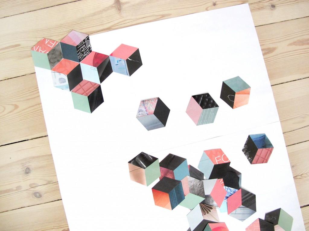 placer sekskanterne på et ark papir