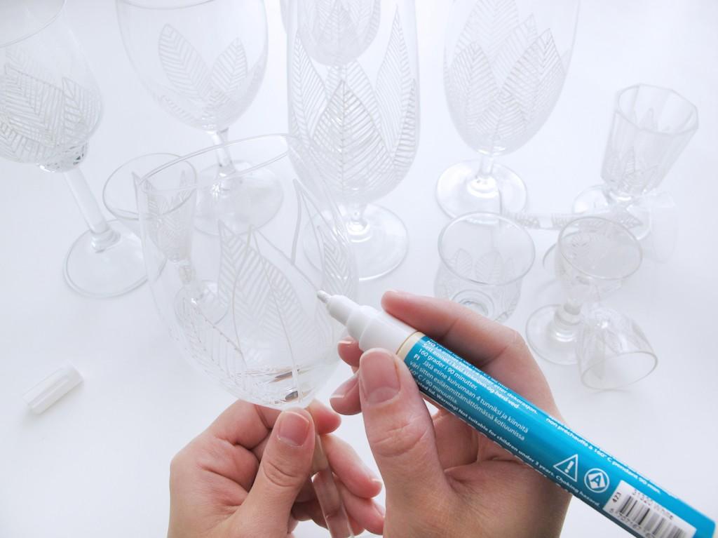 tegn og dekorer billige glas så de ligner en million