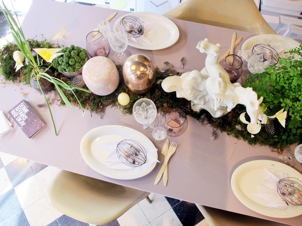 borddækning af påskebord
