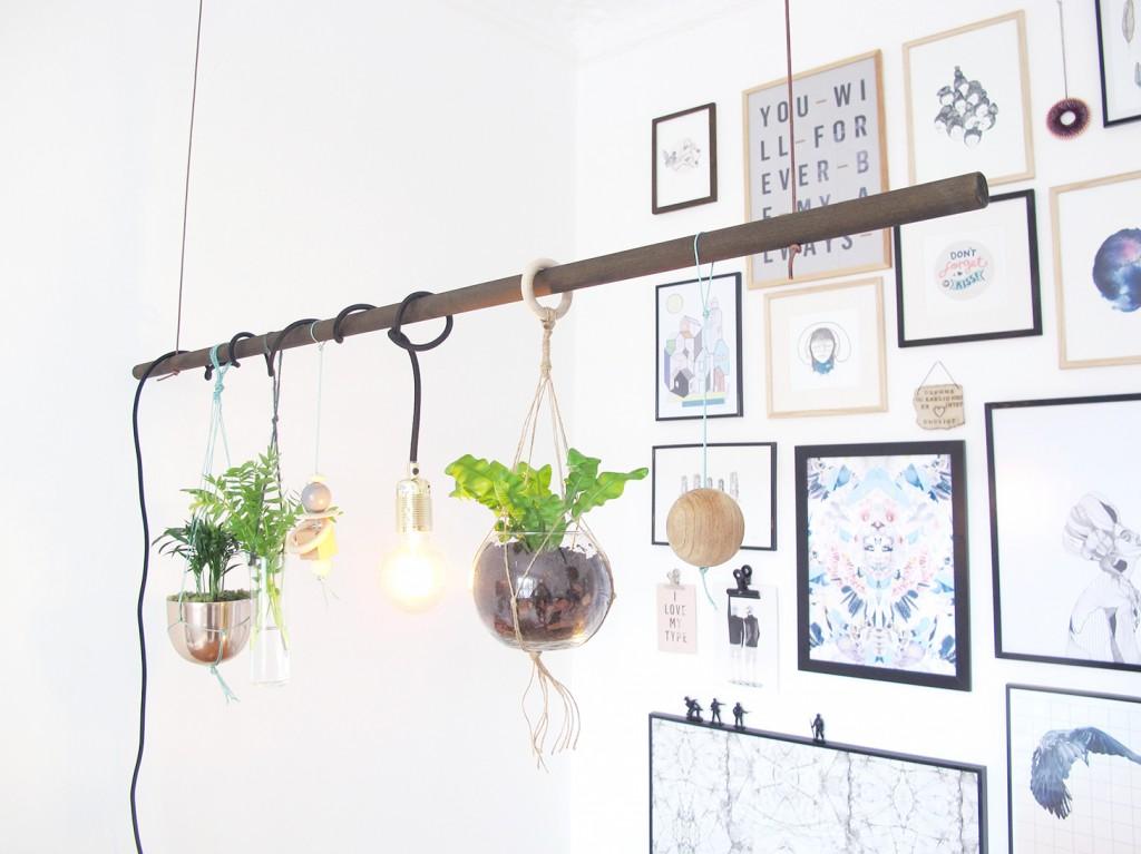 planteophæng og billedvæg