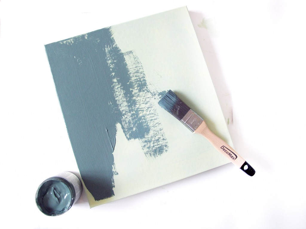 der males med chalky vintage maling, andet lag