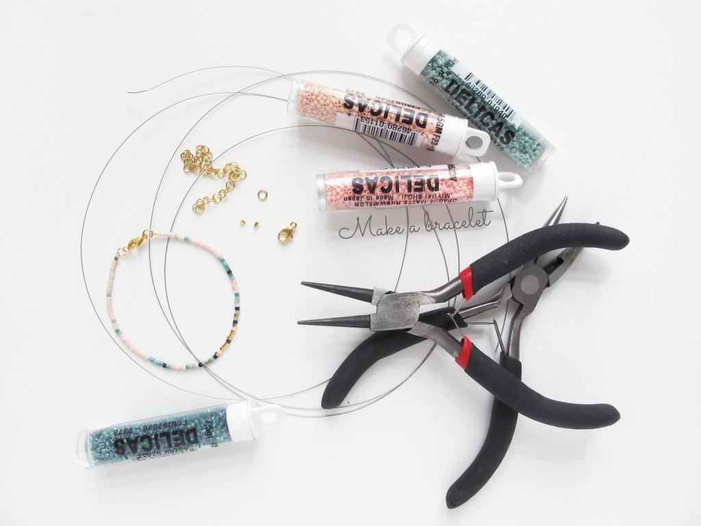 materialer til fremstilling af armbånd