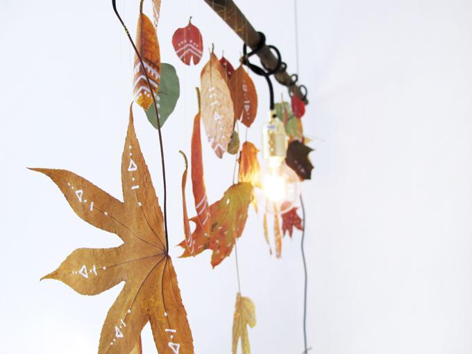 tegn på efterårsblade med posca tusser