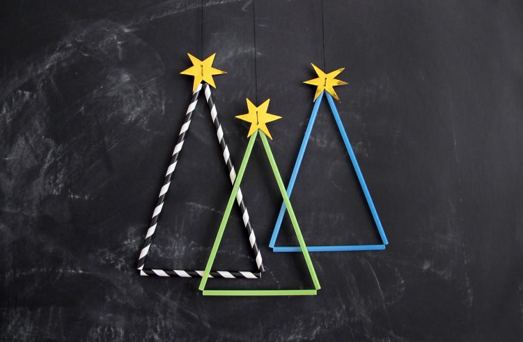 lav din egen juletræer af sugerør