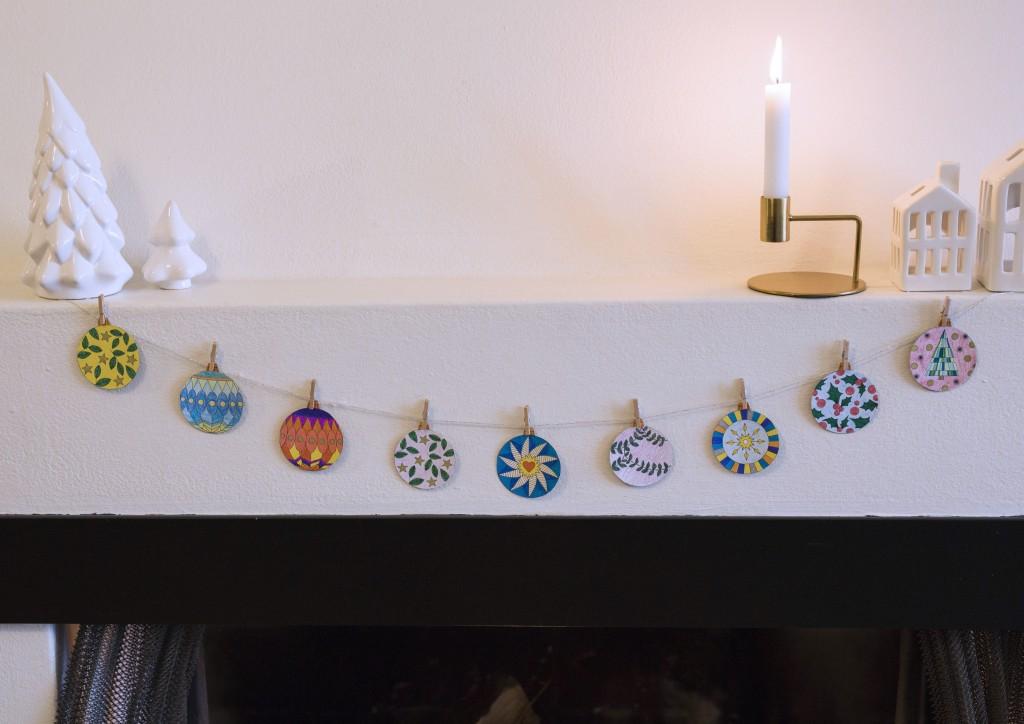 print selv ark med julekugler