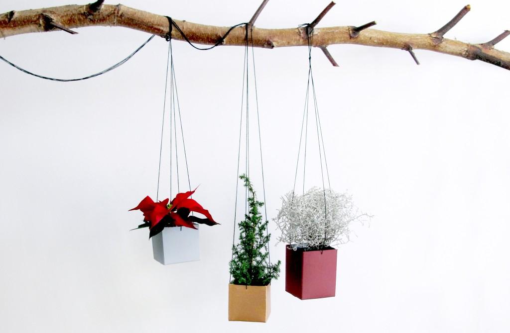 kreativ bolig indretning med hjemmelavet hænge plante