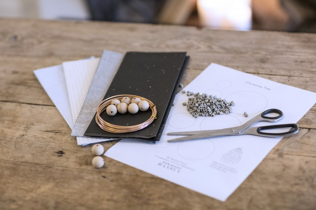 hobby materialer og skabelon til julepynt