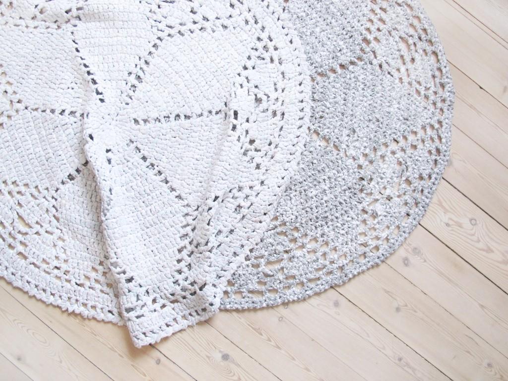 opskrift på hæklet tæppe af sengetøj