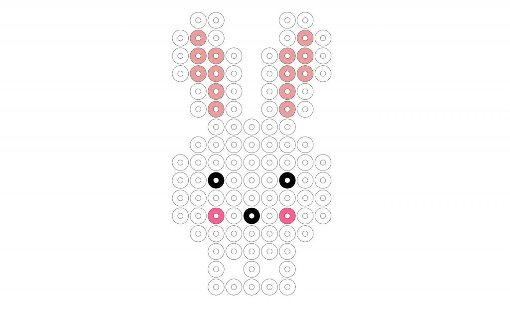 skabelon til påske kanin i hama perler