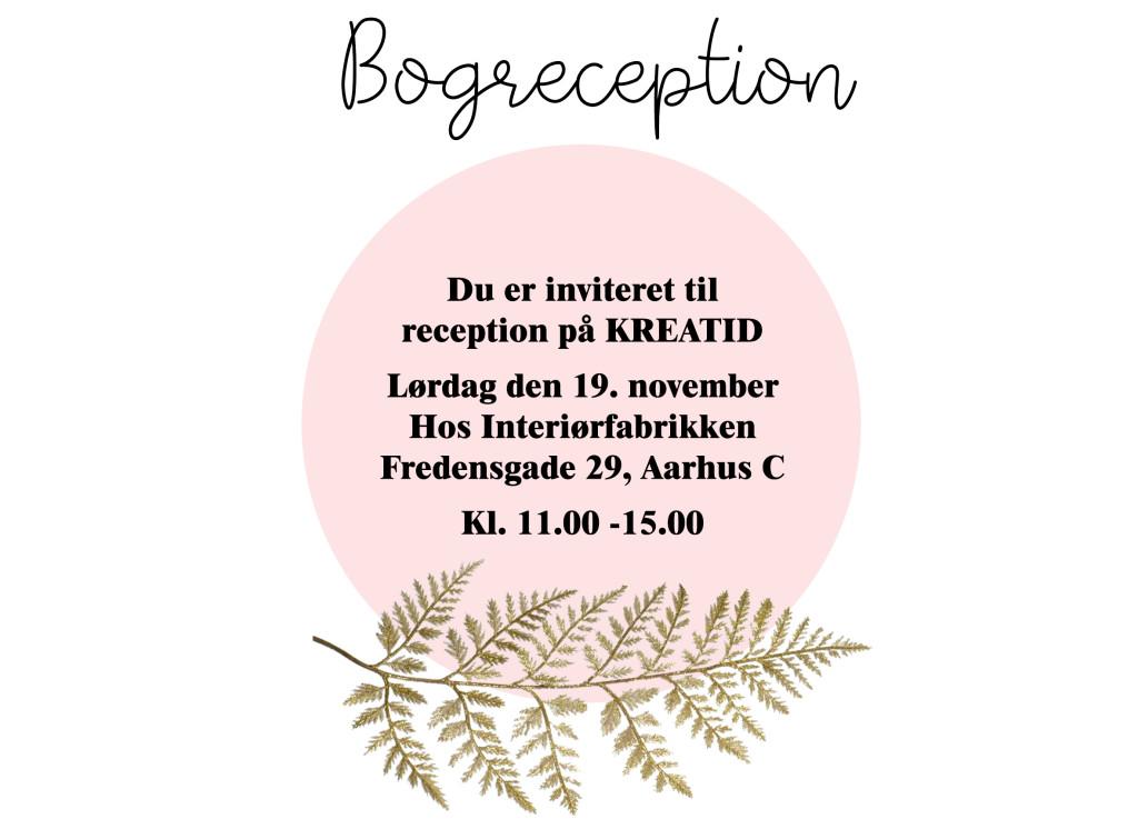kreatid bog reception diy blog udgiver bog