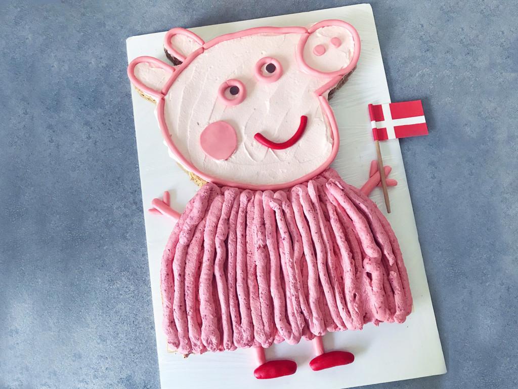 gurli gris kage og tal kage til børnefødselsdage